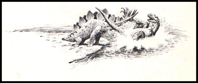 stegosaurus-fight