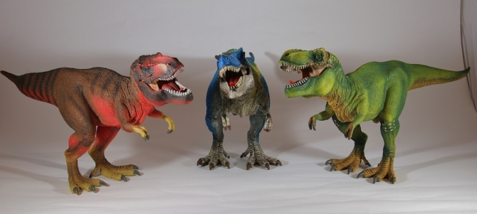 "alt=""Schleich Red Green Blue T-Rex"""