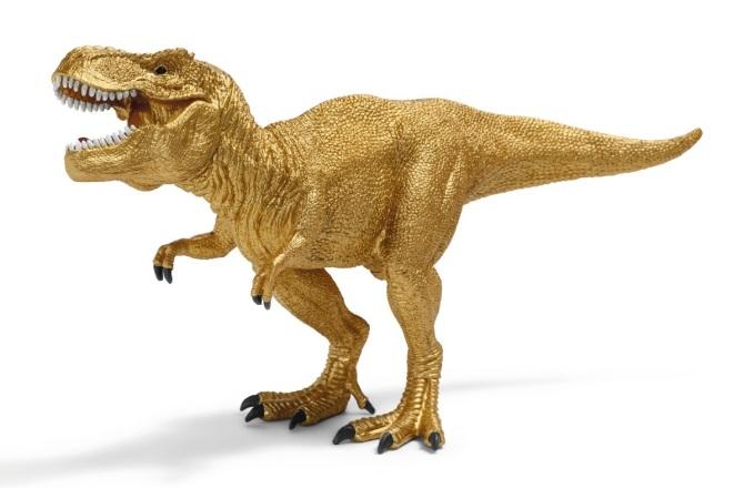 """alt=""""Schleich T-Rex gold"""""""