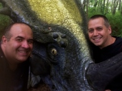 2 Dave Fuentes & David Albaugh with Styracosaurus