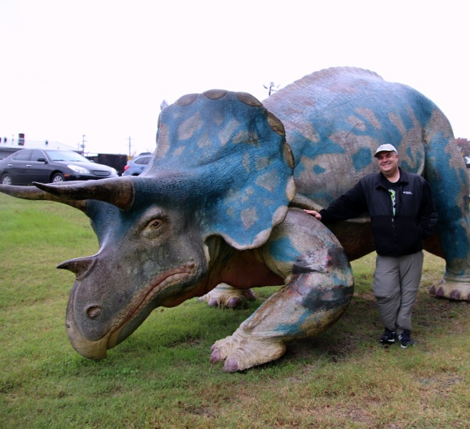 1964 New York World Fair Triceratops and Dave Fuentes